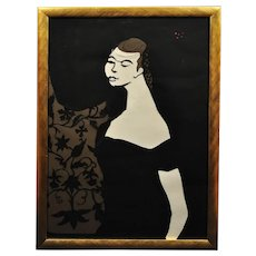 Edith Simon 1917 - 2003.  German, (naturalised British). Ballet Girl (Lesley Blandy), 1967. Paper Cut Bas Relief. Scalpel Painting. Framed.