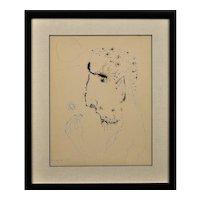 John Kingerlee b.1936. Irish. John, 1967. Ink & Paper. Framed.