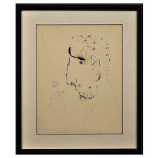 John Kingerlee b.1936. Irish. John, 1967. Ink & Paper. Framed.