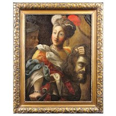 19th Century Continental follower of Peter Paul Rubens. Judith and the Head of Holofernes. Oil on Canvas. Framed.
