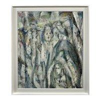 Meryl Watts 1910 – 1992. English. Enigma. Oil on Board. Framed.