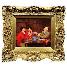 John Arthur Lomax 1857 - 1923.  English. When I was a Boy. Oil on Panel. Framed.