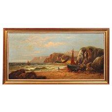 Daniel Sherrin 1868 - 1940.  English. Nefyn, Llyn Peninsula, Gwynedd. North Wales.  Oil on Canvas. Framed.