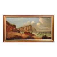 Daniel Sherrin 1868 - 1940.  English. Llyn Peninsula, Gwynedd. North Wales.  Oil on Canvas. Framed.