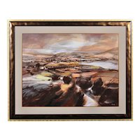 Ronald Lowe 1932 - 1985.  English. Venture into the Dales. Watercolor. Framed.