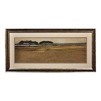 Roger Cecil 1942 - 2015. Landscape study, 1964. Watercolour.Framed.