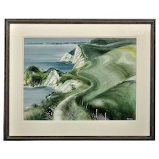 Ronald Maddox 1930 - 2018.  English. Venture into the Dales. Watercolor. Framed.