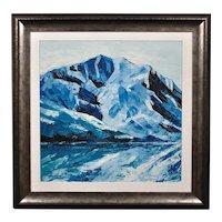 Gwyn Roberts b.1953.  Welsh. Y Garn, Eryri (Snowdonia, Wales). Oil on Canvas. Framed.