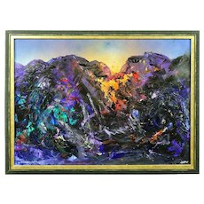 David Wilde 1913 - 1974. English. The Day also Rises (Snowdonia). Acrylics. Framed.