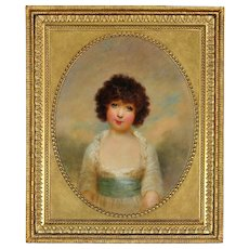 Arthur William Devis 1762 - 1822. English. Portrait of Charlotte Shore, Daughter of the 1st Lord Teignmouth 1790 - 1864. Oil on Canvas. Framed.
