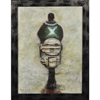 David Barrow b.1959. Scotland the Brave. Oil Painting. Framed.