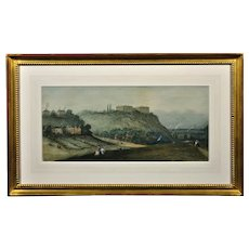 Claude Thomas Stanfield Moore 1853 - 1901.  English. Prospect of Nottingham Castle from The Park. Watercolor. Framed.