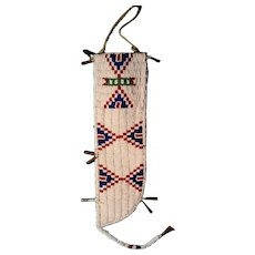 Late 19th century Lakota beaded knife sheath
