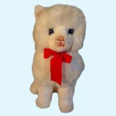 Long-hair Steiff cat with white Angora fur