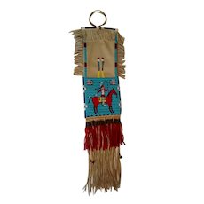 Northern Plains Native American calumet or pipe bag