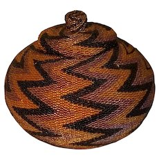 Native American beaded Paiute basket
