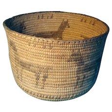 Early Akimel O'odham (Pima) coiled basket
