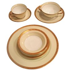 """Noritake China"""" Margo 464"""" 4(7) Piece Place Setting  and 6 Serving Pieces"""