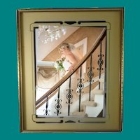 Vintage  Art Deco 1930's Reversed Painted Picture Frame