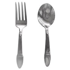 "Rogers Brothers 1847  ""First Love"" Sliver Plate  Baby Set (Fork and Spoon)"
