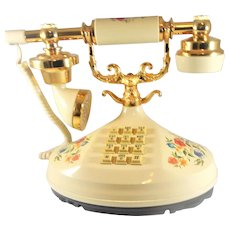 Vintage French Style Push Button Phone From the 1980's