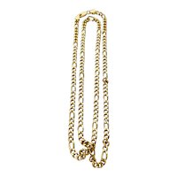Solid 14k 25 Inch Figaro Chain 31 Grams