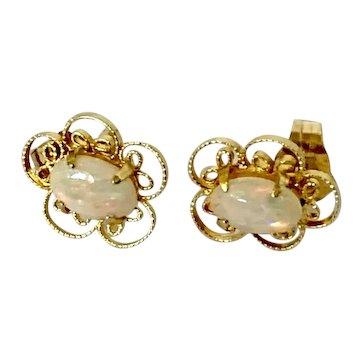 14k Vintage Opal Earrings