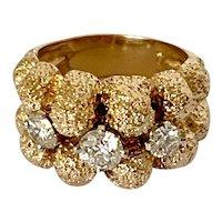 !4k 3 Stone Diamond Estate Ring