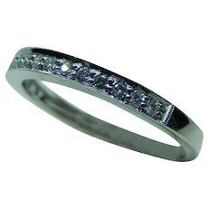 Diamond Band w/ 17-1.30mm Round Brilliant Diamonds in 14 Karat White Gold