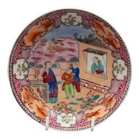 "19th C. New Hall Chinoiserie Dish – ""Boy in the Window"" Pattern"