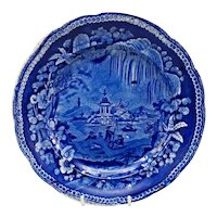 19th C. Staffordshire Transferware Chinoiserie Plate – Enoch Wood
