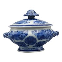 18th Century Chinese Export Fitzhugh Sauce Tureen