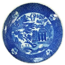 19th C. Japanese Igezara Transferware Plate - Willow Pattern