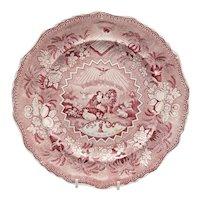 "19th C. Staffordshire ""Millenium"" Pattern Plate"