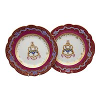 A Pair of 19th C Ridgway Porcelain Armorial Plates – Westhead