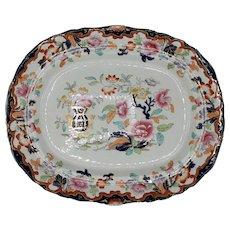 "Large 19th C. Ridgway ""Simlay"" Pattern Platter"