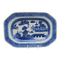 Unusual 19th Century Chinese Export Small Canton Platter