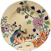 19th Spode Stoneware Peacock Pattern #4079 Plate