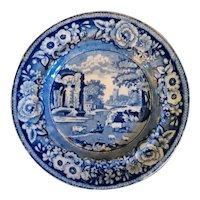 "19th C. Staffordshire Transferware Plate – Stubbs ""Italian"" Pattern"