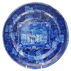 19th C. Historical Staffordshire Transferware Plate – St. Philip's Chapel Regent Street