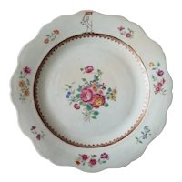 18th C. Chinese Export Famille Rose Armorial Plate - Watson