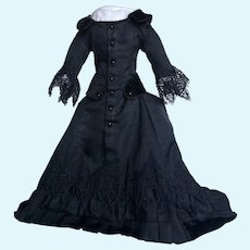French Fashion Doll Mourning Dress