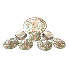 Chinese Canton Porcelain Flat Ware
