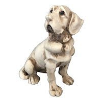 Small Ceramic Dog for Doll House Accessories