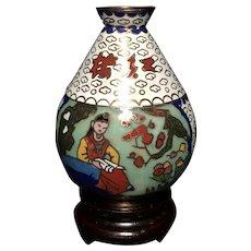 Vintage Cloisonné Enamel Chinese Vase