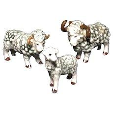 Bone China Miniature Sheep Set