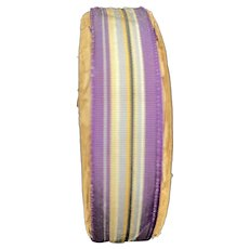 Antique Roll of Grogain Silk Ribbon Trim