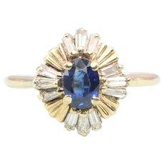 Sapphire & Diamond 14ct Gold Cluster Ring