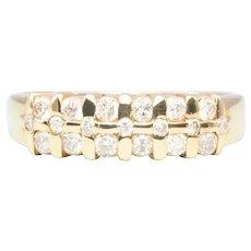 14ct Gold Diamond Three Row Aria Eternity Ring
