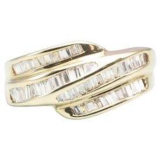 14ct Yellow Gold Baguette Diamond Dress Ring